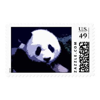 Blue Tones Panda Portrait Postage