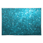 Blue Tones Retro Glitter And Sparkles Place Mats
