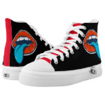 Blue Tongue High-Top Sneakers