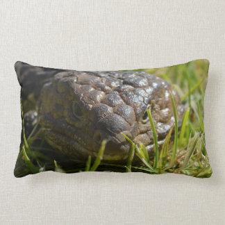 Blue_Tongue_Lizard_Face,_A_Grade_Cotton_L_Cushion. Lumbar Pillow