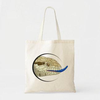 blue tongued skink (ij) tote canvas bag