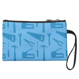 blue tools wristlet bag purse