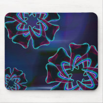Blue Tooth Flower Design Dentist Mousepad