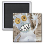 Blue-toothed! 2 Inch Square Magnet