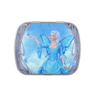 Blue Topaz Birthstone Fairy Jelly Belly Candy Tin