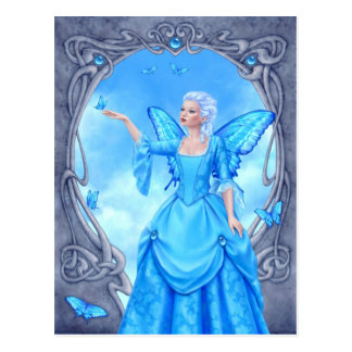 Blue Topaz Birthstone Fairy Postcard