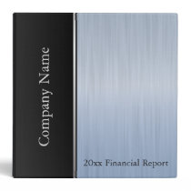 Blue Topaz Brush Steel Company Style 3 Ring Binder