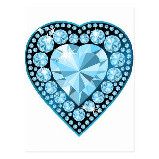 Blue Topaz Gem Heart Postcard