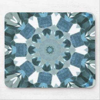 Blue Topaz Kaleidoscope Mouse Pad