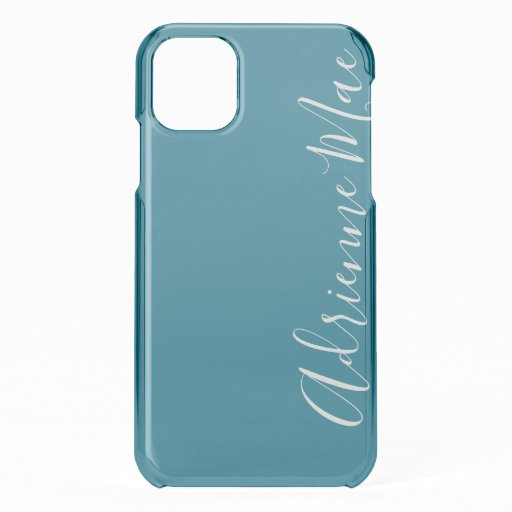 Blue Topaz Personalized iPhone 11 Case
