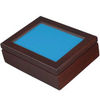 Blue Topaz Solid Color Keepsake Box