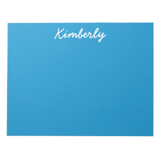 Blue Topaz Solid Color Note Pad