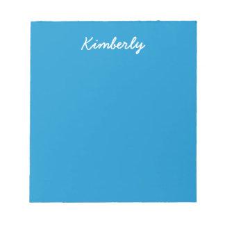 Blue Topaz Solid Color Notepad