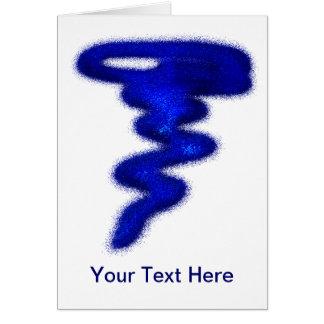 Blue Tornado Card