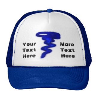 Blue Tornado Trucker Hat