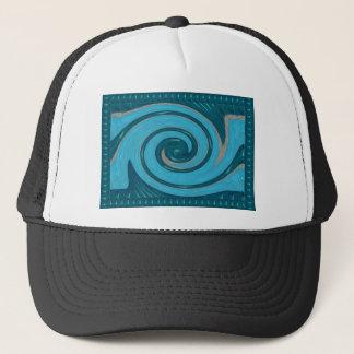 BLUE TORNADO Wave Twirl Graphic Gifts Greetings FU Trucker Hat
