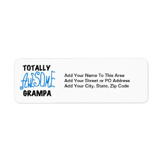 Blue Totally Awesome Grampa T-shirts and Gifts Label