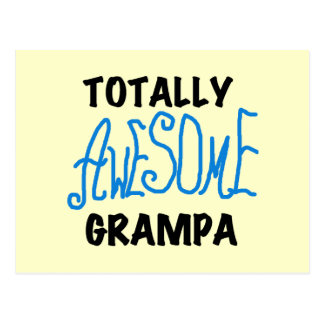 Blue Totally Awesome Grampa T-shirts and Gifts Postcard