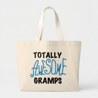Blue Totally Awesome Gramps T-shirts and Gifts Canvas Bag