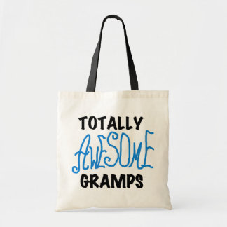 Blue Totally Awesome Gramps T-shirts and Gifts Tote Bags