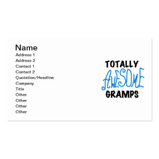 Blue Totally Awesome Gramps T-shirts and Gifts Business Card Templates