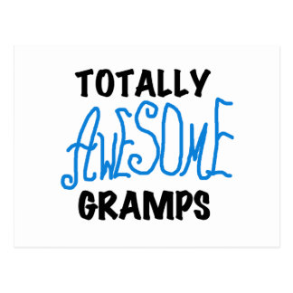 Blue Totally Awesome Gramps T-shirts and Gifts Postcard