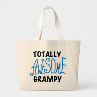Blue Totally Awesome Grampy Tshirts and Gifts Jumbo Tote Bag