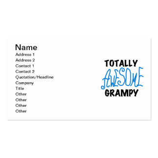 Blue Totally Awesome Grampy Tshirts and Gifts Business Card Templates