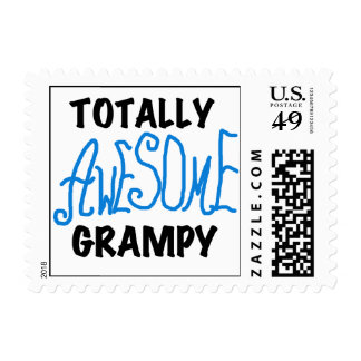 Blue Totally Awesome Grampy Tshirts and Gifts Postage