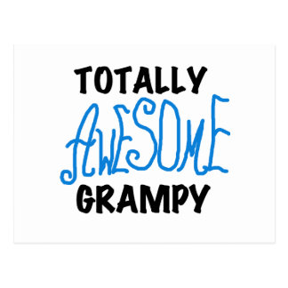 Blue Totally Awesome Grampy Tshirts and Gifts Postcard