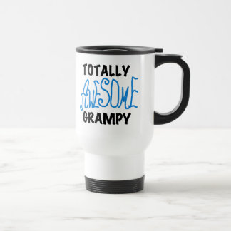Blue Totally Awesome Grampy Tshirts and Gifts Travel Mug