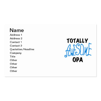 Blue Totally Awesome Opa T-shirts and Gifts Business Card
