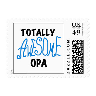 Blue Totally Awesome Opa T-shirts and Gifts Postage Stamp