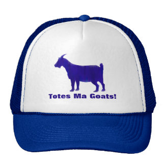 Blue Totes Ma Goats Watercolor Hat