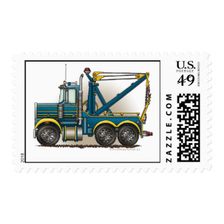 Blue Tow Truck Wrecker Stamps