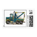 Blue Tow Truck Wrecker Stamps