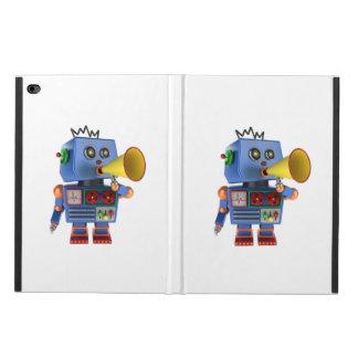 Blue toy robot with bullhorn powis iPad air 2 case