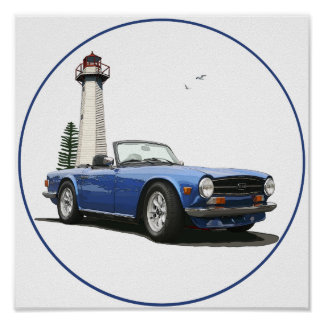 Blue TR6 Poster
