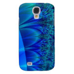 Blue Trace Fractal Galaxy S4 Cover