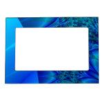 Blue Trace Fractal Magnetic Photo Frame
