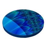 Blue Trace Fractal Poker Chip Set