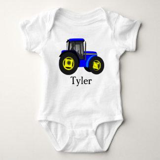 Blue Tractor Baby Bodysuit
