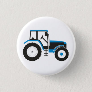 Blue Tractor Badge Button