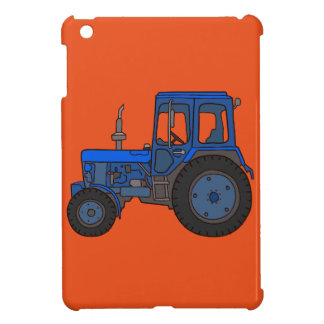 Blue tractor iPad mini cover