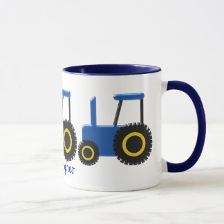 Blue Tractor Just Add Name Mug