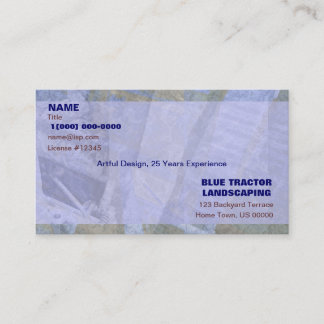 Blue Tractor Landscaping Business Card