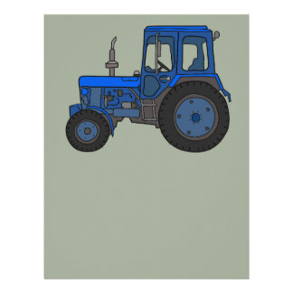 Blue tractor letterhead