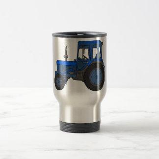 Blue tractor travel mug