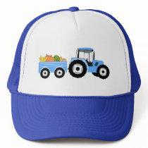 Blue Tractor Truck Farm Produce Trucker Hat