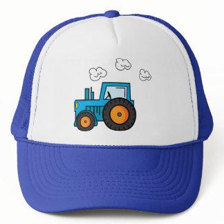 Blue Tractor Trucker Hat